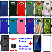 For Samsung Galaxy S8+Plus Defender Case w/Screen (Clip Holster Fits Otterbox)