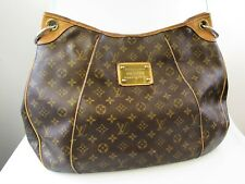 LOUIS VUITTON MONOGRAM COATED CANVAS GALLIERA GM LARGE TOTE HANDBAG DISCONTINUED