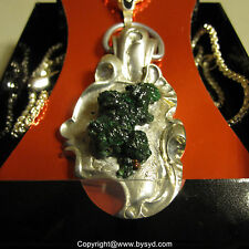 "Necklace With Malachite Original ""Gnome"" Hand Made With Certificate One Only!"