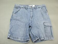 COLUMBIA SIZE 38 MENS BLUE DENIM 100% COTTON CARGO SHORTS 906