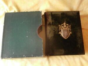 TOP Album photo ancien avec sa boite, pour photos cartes cdv, cabinet, XIXe vide