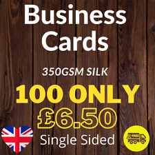More details for business cards printed full colour single sided (85mm x 55mm) 350gsm silk - 100