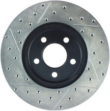 Disc Brake Rotor-Sport Drilled/Slotted Disc Front Left Stoptech 127.61072L