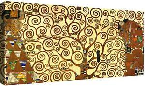Quadri moderni L'albero della vita di Klimt Quadro Stampa su tela cm 100x50 Arte