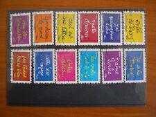 Série complète Ben  2011 (YT 609 à 620), 12 timbres