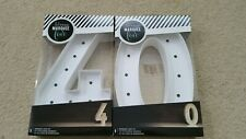 Celebrating 40! Heidi Swapp Marquee Love Number 4 and 0 Light Up Kit