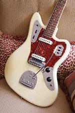 1965 Fender Jaguar, Olympic White, Matching Headstock   (FEE0460)