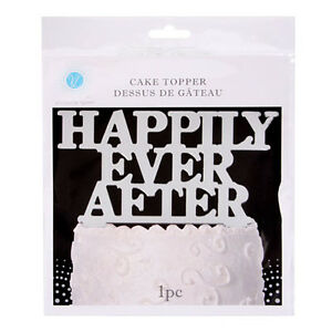HAPPILY EVER AFTER ACRYLIC MIRROR CAKE TOPPER BY VICTORIA LYNN