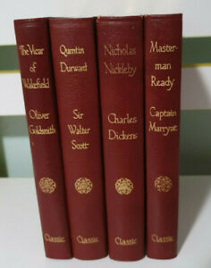 Vintage Alexander Classic Library - LOT OF 4 NICHOLAS NICKLEBY MASTERMAN READY