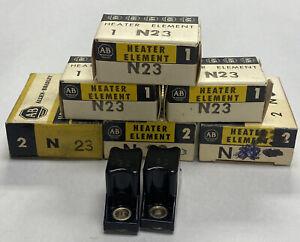 Allen-Bradley N23 Heater Element Lot Of 9 NOS