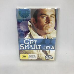 GET SMART Season Three DVD Region 4 RARE OOP TV Show Very Good Condition