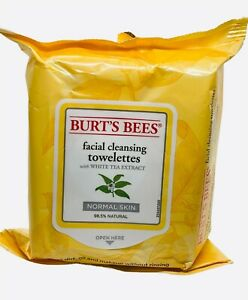 Burt's Bees Facial Cleansing Towelettes With White Tea Extract 30 Ct