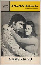 "Jerry Orbach ""6 Rms Riv Vu""  Tryout Playbill 1972 Boston-  Jane Alexander"