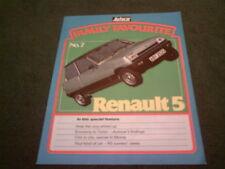 Mai 1982 RENAULT 5 AUTOCAR MAGAZINE Famille Préféré réimpression UK 12 page brochure