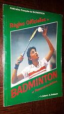 REGLES OFFICIELLES DU BADMINTON ET RECOMMANDATIONS - 1995