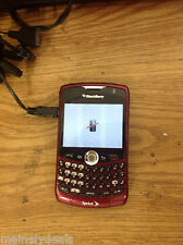 BlackBerry Curve 8330 Red Sprint Smartphone Cell Phone No Battery Powers on