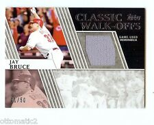 2012 TOPPS CLASSIC WALK-OFFS RELIC JAY BRUCE JERSEY #41/50