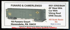 Funaro F&C 5021  ERIE  40' Steel Milk Reefer Car Kit  Viking Roof Pullman Green