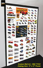 Custom TYCO Wall Art - TYCO 1982 CATALOG Cars  11W x 17T Hi QA POSTER