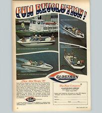 1970 PAPER AD Glastron Motor Boat V-164 Bayflite Gulfcruiser Fundeck Starflite