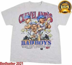Vintage Cleveland Indians Bad Boys Kenny Lofton Albert Belle Carlos Barga Shirt