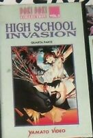 1 VHS MANGA YAMATO DOKI,HIGH SCHOOL INVASION vol.3 PARTE 4,HOT ANIME INEDITO DVD