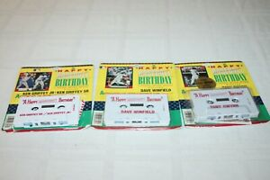 A Happy Birthday Baseball Cassette Tape Message Lot Griffey Jr, Gwynn, Winfield