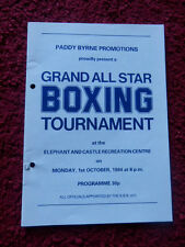 BOXING PROGRAMME - T.P.JENKINS V WILLIE WRIGHT 1984