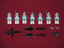 LEGO Star Wars minifigures LOT Aqua Blue Special Ops Clone Squad,Commander,Guns+