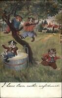 Louis Wain Cat Fantasy Apple Tree c1910 Postcard G19