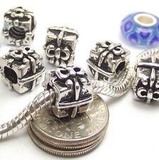 Bow Gift Box Screw Threaded Stopper Lock Bead for Silver European Charm Bracelet