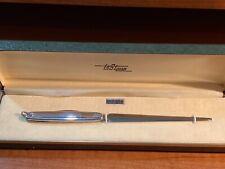 Antique Solid Silver LeStage  Letter Opener Knife