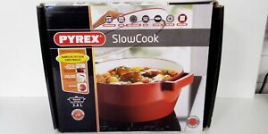 Pyrex Slow Cook Cast Iron 3.6ltr Casserole Dish with Lid Boxed.#985