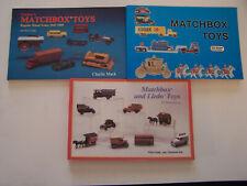 3 Matchbox and Lledo Catalogs