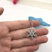 Snowflake Necklace Charms Jewelry Tibet silver Pendant Chain Necklace