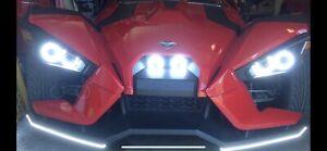 4x 6000K Brightness LED Headlights Kit For Polaris Slingshot USA STOCK WARRANTY!
