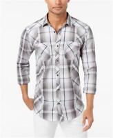 INC Utility Shirt Light Grey Mens Size XXL New