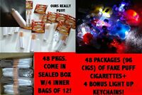 NEW COSPLAY HALLOWEEN COSTUME FAKE PUFF CIGARETTES-THEY REALLY PUFF-96 PIECES!