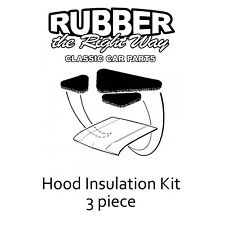 1963 1964 Ford Galaxie Hood Insulation Kit - 3 pc.
