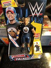"WWE Tough Talkers John Cena 6"" Posable Mattel Talking Figure New 2ND PRINTING"