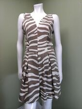 Banana Republic Issa London Collection Animal Print Fit & Flare Dress Size 12P