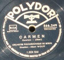 Bizet Carmen Albert Wolff - Gounod Faust Oskar Fried 78 trs RPM EX+