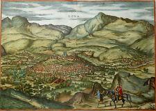 SPANIEN ANDALUSIEN LOXA SIERRA NEVADA BRAUN HOGENBERG HOEFNAGEL KOLORIERT 1581