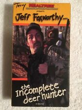 The Incomplete Deer Hunter (Prev. Viewed VHS) Jeff Foxworthy RARE HTF
