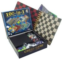 Keraiz 100 Classic Games Compendium,Chess Game with 100 in 1 Kit ,Board Game