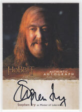 2015 Hobbit Desolation of Smaug Stephen Fry Master of Lake Town Autograph Card