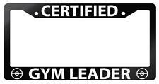 Glossy Black License Frame Certified Gym Leader Auto Accessory Pokemon 101