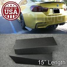 "2 Pcs 15""  Rear Bumper Lip Winglet Apron Splitter Diffuser Valence Spats For BMW"