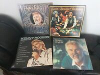 5 KENNY ROGERS RECORD LOT GREATEST BEST OF GAMBLER CHRISTMAS POP VINYL ALBUM LPS