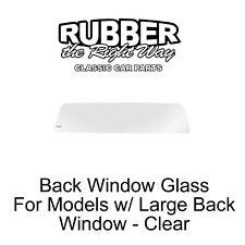 1960 - 1966 Chevy & GMC Truck Back Window Glass - Clear - Models w/ Large Window